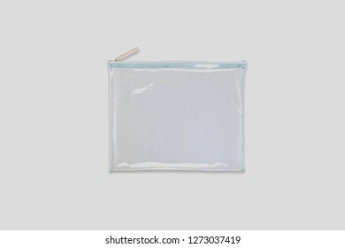 Pouch Bag Packaging With Zipper.Plastic zipper bag isolated on white.High resolution photo.