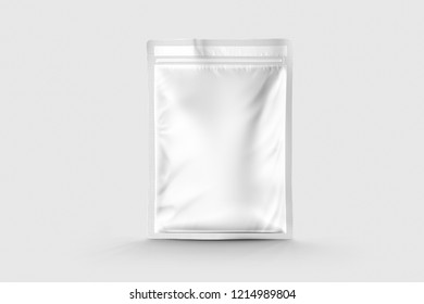 Pouch Packing mockup with white background