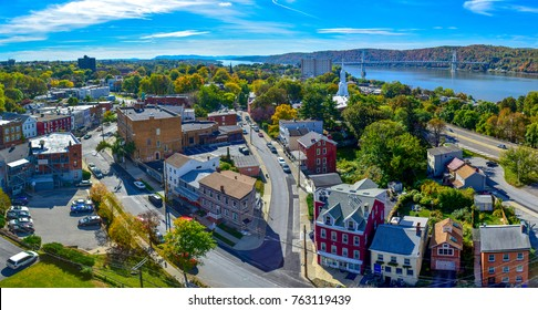 Poughkeepsie View From Walk Over The Hudson