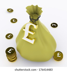 Pound Bag Meaning British Wealth And Money
