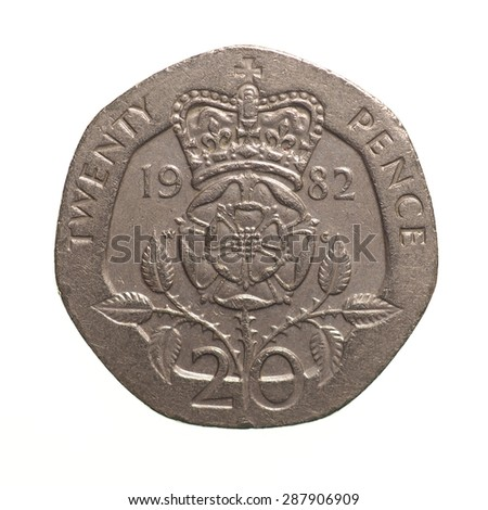 Pound Coin 20 Pence Currency United Stock Photo Edit Now 287906909