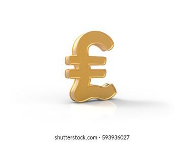 Pound Symbol 3D Illustration