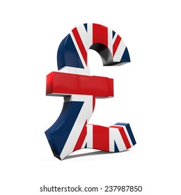 Pound Symbol with Flag