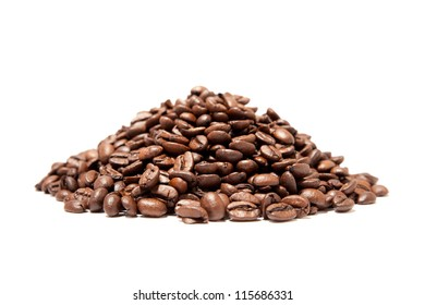 A pound of well roasted arabica coffee beans