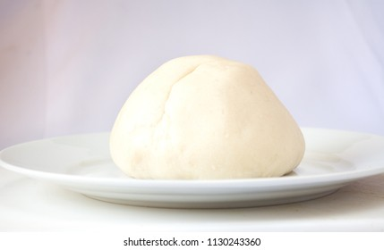 Pounded yam on a white plate
