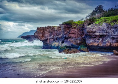 Pounders beach in Oahu, Hawaii, USA
