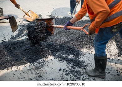 Pour asphalt, ground cover