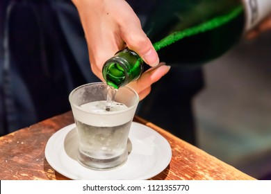 Pour a cold sake well/Alcohol made from rice sake