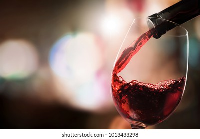 Pour red wine