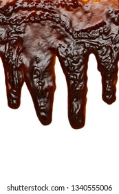 Pouring barbecue sauce
