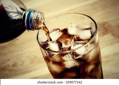 Pouring of cola