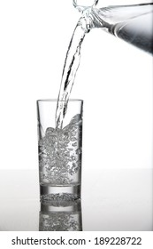 Pouring glass of water