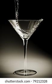 Pouring Martini