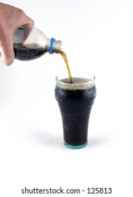 Pouring Soda into Glass