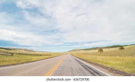 POV point of view - Driving through countryside in Eastern Colorado.