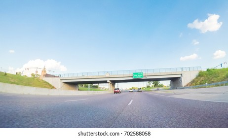POV point of view - Traveling East on Interstate Highway 70.