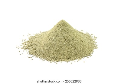 powder refractory clay on a white background