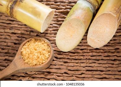 Powder and sugar cane - Saccharum officinarum