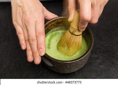 Powdered green tea tea ceremony Japan