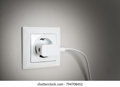 Power adapter plugged in