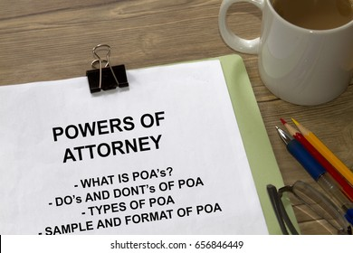 Power of attorney concept- with coversheet of a lecture.