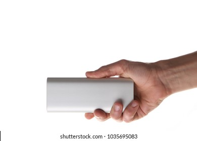 power bank in the hand