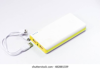 Power Bank  on White background