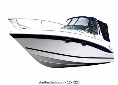 Power boat isolated on white background