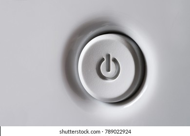 Power button in a gray.
