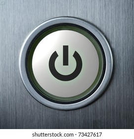 Power button with icon