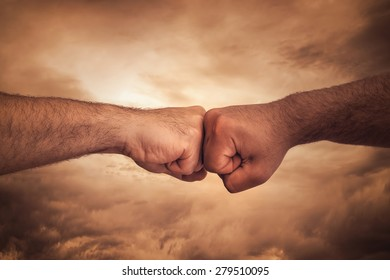 Power Concept with fists together