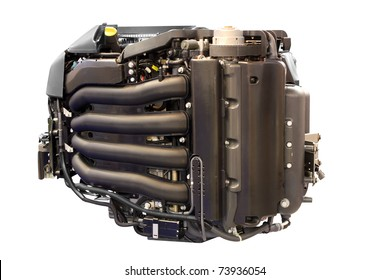 power engine for yacht and ships isolated