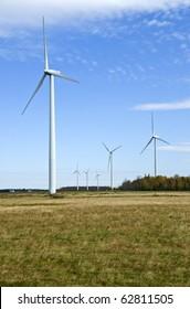 Power Generating Windmills in the Field