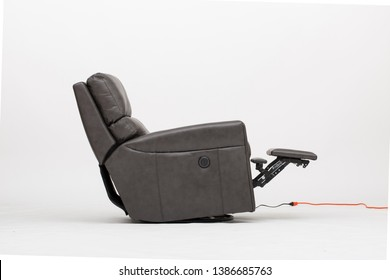 Power Leather Recliner Chair with white background