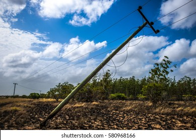 Power line damaged during fire