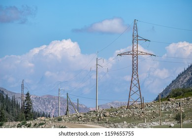 power line in the mountains