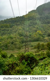 Power line on the mountainside.