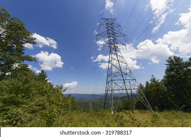 power line in the smoky mountains