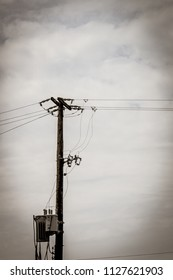 Power lines and transformer