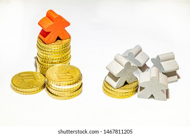 the power of money in economy illustrated with piles of euro cen