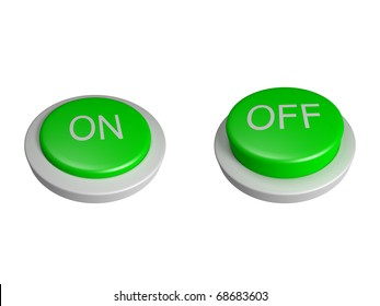 Power on off buttons - isolated
