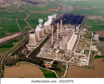 Power plant aerial view