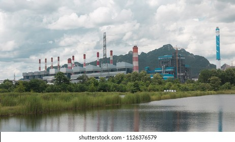 power plant and beautiful cloud