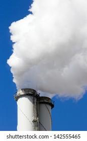 Power plant chimney emission