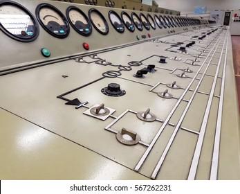 Power plant control panel.