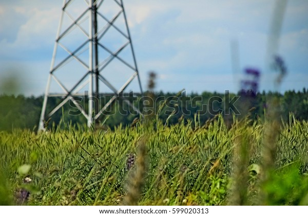 power plant in field
