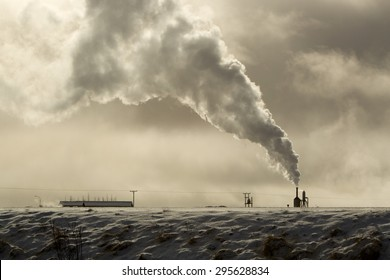 Power plant of geothermal energy in Iceland