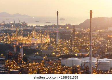 Power plant for Industrial Estate at twilight
