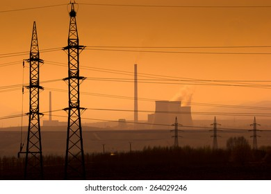 Power plant in the landscape