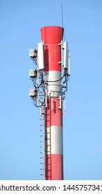 Power plant pipe with cellular aerials